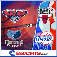 Atlanta vs Chicago -  LA Clippers vs Memphis