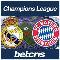 BETCRIS Champions League Bayern vs Real
