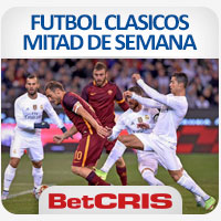 BetCRIS FUTBOL CLASICOS MITAD DE SEMANA  FOTO AS ROMA VS REAL MADRID