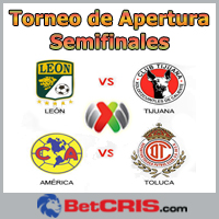 Liga MX - León vs Club Tijuana, América vs Toluca