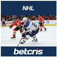 BETCRIS NHL betting odds Blackhawks at Blues