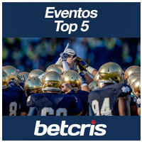 BETCRIS Apuestas Fin de Semana Eventos Top 5 NOTRE DAME FIGHTING IRISH FOOTBALL