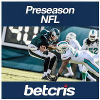 BETCRIS Preseason NFL  Dolphins vs  Eagles betting odds