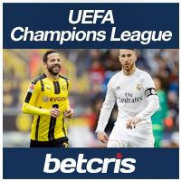 betcris Apuestas futbol UEFA Champions League Real Madrid vs Borussia Dortmund