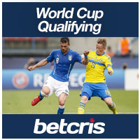 betcris World Cup Qualifying betting odds Sweden vs Italy