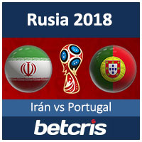 BETCRIS WORLD CUP Rusia 2018 Iran vs Portugal