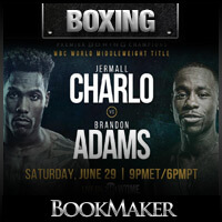 Jermall Charlo vs. Brandon Adams Betting