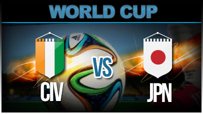 ivory coast v japan brazil world cup 2014