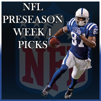 NFL Pre Season Week 1 Betting Odds