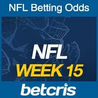 NFL Football Week 15 Betting Odds - Betcris Live Football Bets