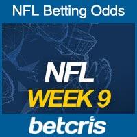 Online NFL Odds Week 9