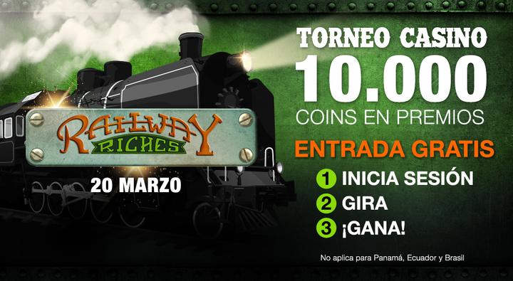 Torneo de casino en linea gratis Railway Riches - Betcris