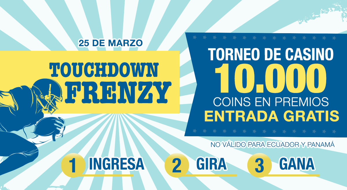 Torneo de casino Touchdown Frenzy