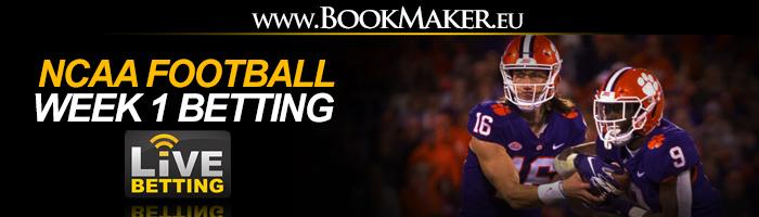 NCAA Football Week 1 Betting