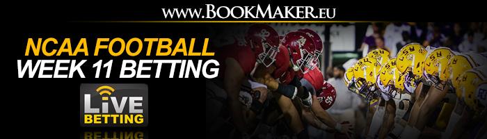 NCAA Football Week 11 Betting Odds