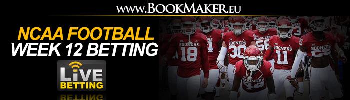 NCAA Football Week 12 Betting Odds