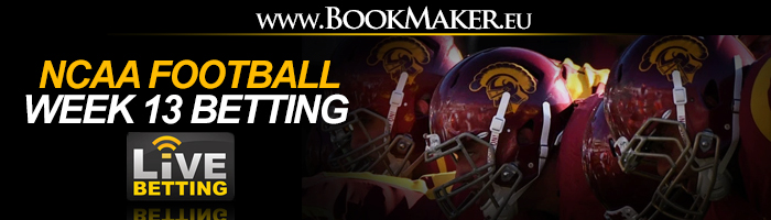 NCAA Football Week 13 Betting Odds