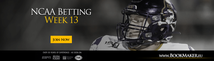 Week 13 college football betting lines wizard betting window