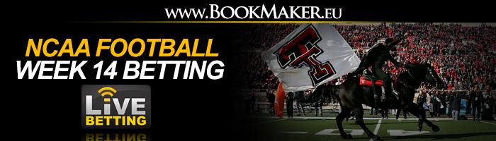 NCAA Football Week 14 Betting Odds