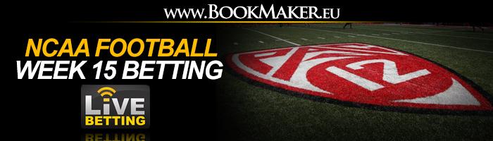 NCAA Football Week 15 Betting Odds