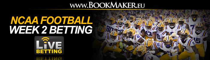 NCAA Football Week 2 Betting