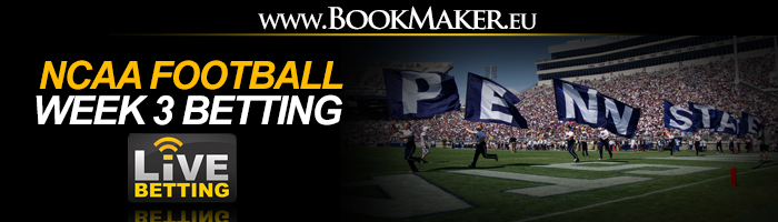 NCAA Football Week 3 Betting Odds
