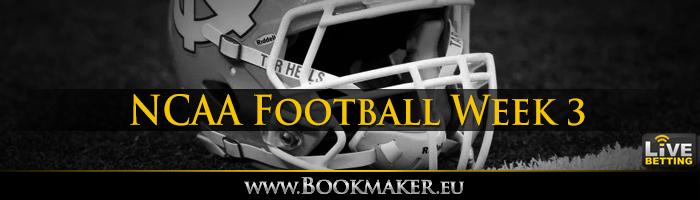 College Football Week 3 Betting