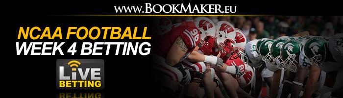 NCAA Football Week 4 Betting Odds