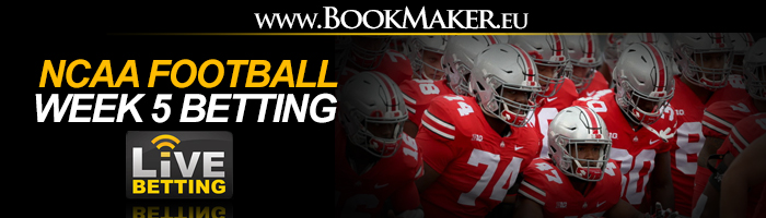 NCAA Football Week 5 Betting Odds
