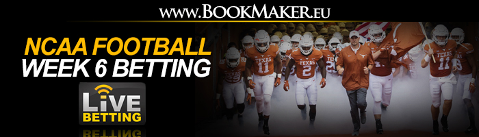 NCAA Football Week 6 Betting Odds