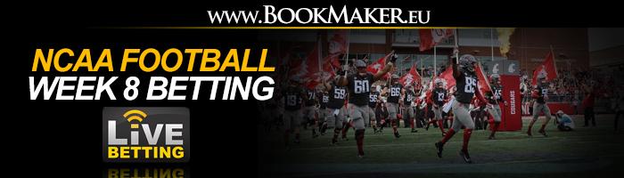 NCAA Football Week 8 Betting Odds