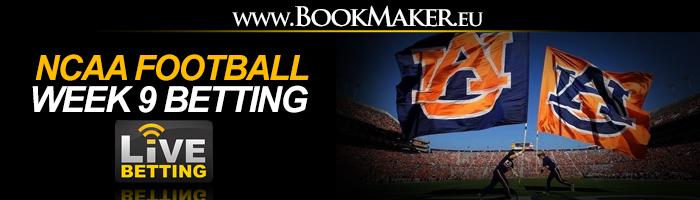 NCAA Football Week 9 Betting Odds