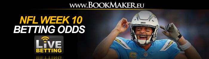 NFL Week 10 Betting Odds