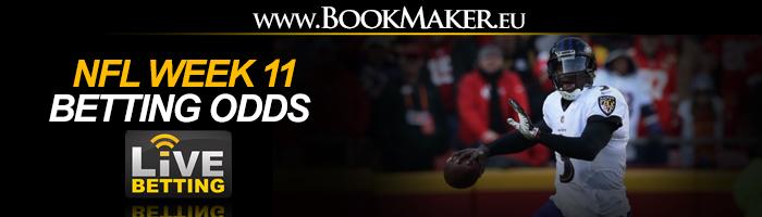 NFL Week 11 Betting Odds