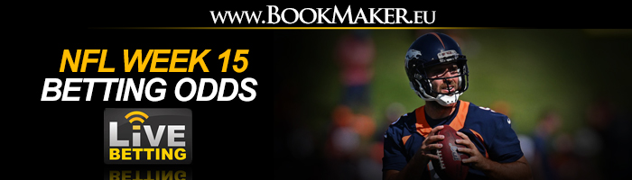 NFL Week 15 Betting Odds