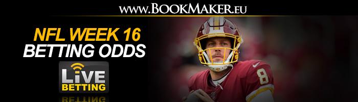NFL Week 16 Betting Odds