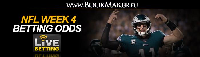 NFL Week 4 Betting Odds