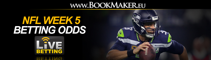 NFL Week 5 Betting Odds
