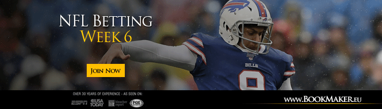 Nfl betting lines week 6 2021 online sports betting promo code
