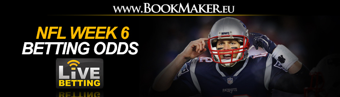 NFL Week 6 Betting Odds