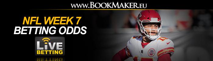 NFL Week 7 Betting Odds