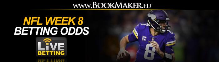 NFL Week 8 Betting Odds