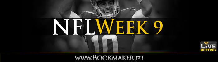 NFL Week 9 Betting