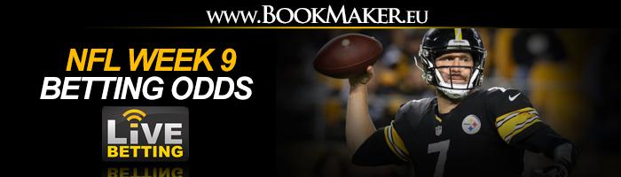 NFL Week 9 Betting Odds