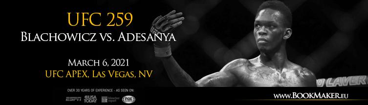 UFC 259: Blachowicz vs. Adesanya Betting