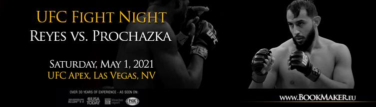 UFC Fight Night: Reyes vs. Prochazka Betting